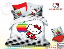 "Двухспальное постельное бельё -Евро ""Hello Kitty белое"""