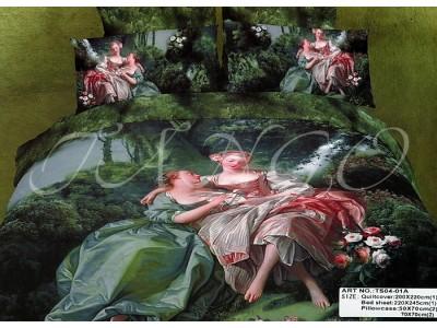 """2-х спальное постельное бельё-Евро """"Картина"""", 300208"""