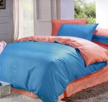 """Двухспальное постельное бельё-Евро двухцветное простыня на резинке """"Аквамарин"""""""