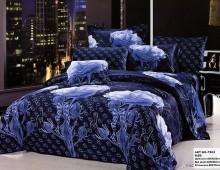 "2-х спальное постельное бельё-Евро ""Синяя роза"""