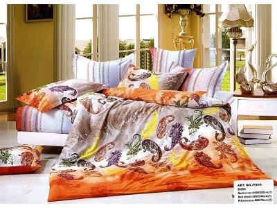 """2-х спальное постельное бельё-Евро """"Разноцветные огурцы"""", 301451"""