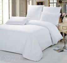 """2-х спальное постельное бельё-Евро +4 наволочки """"Просто белое"""""""
