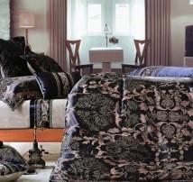 """Двухспальное постельное бельё -Евро из 9-ти предметов """"Чёрное богатство"""""""