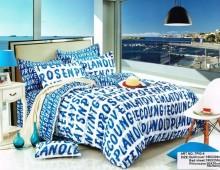 """Двухспальное постельное бельё-Евро +4 наволочки """"Буквы"""""""