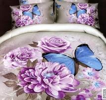 """2-х спальное постельное бельё """"Нарисованные цветы"""""""