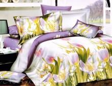 """Семейное постельное бельё """"Сиреневые тюльпаны"""""""