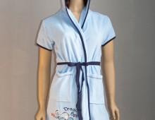 Махровый велюровый женский халат