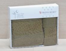 """Набор полотенец для лица и тела в подарочной упаковке 2шт. хлопок """"Virginia Seсret-болотное"""""""