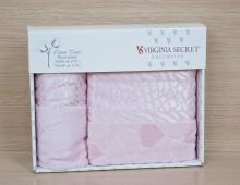 """Набор полотенец для лица и тела в подарочной упаковке 2шт. хлопок """"Virginia Seсret-розовое"""""""