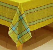 Скатерть Verona 150х240. Желтая с полосами.