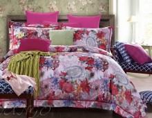 """Двухспальное постельное бельё-Евро +4 наволочки """"Цветные обои"""""""