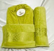 Набор  Банный.Халат+2 полотенца.