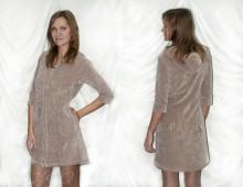 Женский халат VS коричневый
