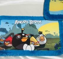 """Коврик для ванной . Прорезиненная основа, махровый кант """"Angry Birds"""""""
