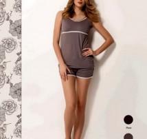 Пижама короткая Luisa Maretti.  Серый