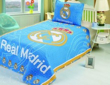 """Покрывало детское -Евро + 1 наволочка """"Футбол. Реал Мадрид"""""""