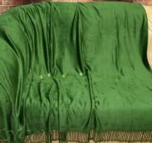 """Плед полутороспальный бамбук """"Зелёное"""""""