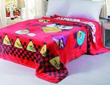 """Плед полутороспальный детский микрофибра """"Angry Birds красное"""""""