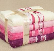 """Бамбук 100% Набор  полотенец для тела или лица в подарочной упаковке """"Gobel бордо и роз"""""""