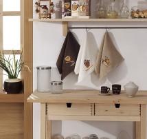 """Набор кухонных махровых полотенец  3шт. """"Sermina-капучино"""""""
