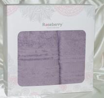 """Набор полотенец Roseberry отельные в подарочной упаковке хлопок """"Фиолетовое"""""""