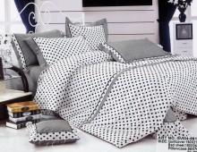 """Двухспальное постельное бельё-Евро +4 наволочки """"Серый горошек"""""""