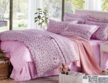 """2-х спальное постельное бельё-Евро и 4 наволочки """"Розовое с мелким цветочком"""""""