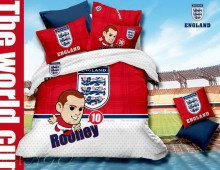 """Полутороспальное постельное бельё """"Футбол-England"""""""