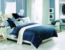 """Двухспальное постельное бельё """"Нежные голубые узоры"""""""