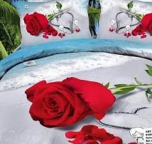 """2-х спальное постельное бельё- Евро """"Роза на берегу"""""""