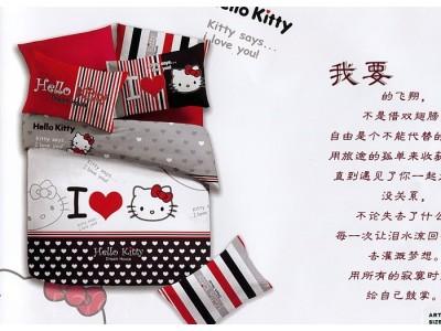 """2-х спальное постельное бельё-Евро """"Hello Kitty"""", 306591"""