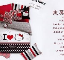 """2-х спальное постельное бельё-Евро """"Hello Kitty"""""""