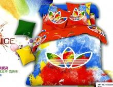 """2-х спальное постельное бельё-Евро """"Цветной Adidas"""""""