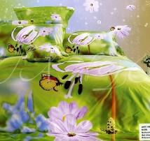 """2-х спальное постельное бельё-Евро """"Завтрак бабочек"""""""