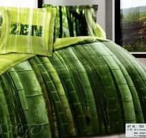 """2-х спальное постельное бельё-Евро """"Бамбуковый лес"""""""