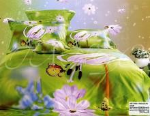 """Двуспальное постельное белье  Евро """"Волшебный сад"""""""