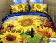 """2-х спальное постельное бельё Евро """"Желтые цветы"""""""