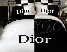 """Двуспальное постельное белье  Евро """"Dior"""""""