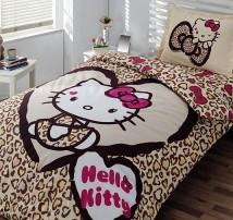 """Полутороспальное  детское постельное бель """" Hello Kitty"""""""