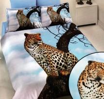 "2-х спальное постельное бельё-Евро ""Леопард на фоне неба"""